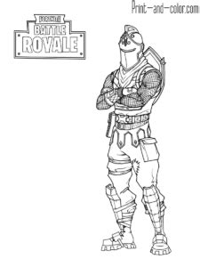 Fortnite Season 8 Coloring Pages Ice King