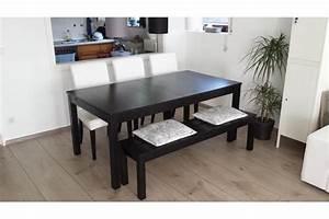 Esstisch Stühle Ikea : ikea bjursta esstisch braunschwarz 175x95cm 3 st hle bank in hirschberg ikea m bel kaufen ~ Avissmed.com Haus und Dekorationen
