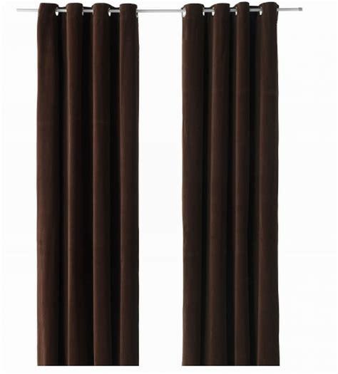 ikea sanela curtains drapes 2 panels brown velvet 98