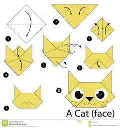 how to make a cat step by step how to make origami a cat stock