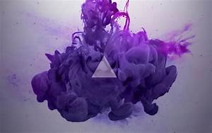 Triangle over purple ink in water - Full HD Desktop ...