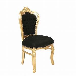 Chaise Baroque Noir : chaise baroque noire et or canap baroque meuble baroque ~ Teatrodelosmanantiales.com Idées de Décoration