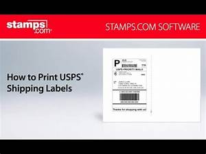 Stampscom how to print usps shipping labels youtube for How to send a shipping label