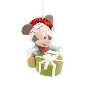 disney hallmark mickey mouse baby s first christmas 2014