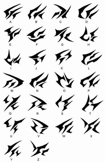 Alphabet Symbols Dark Magic Legacy Fonts Alphabets