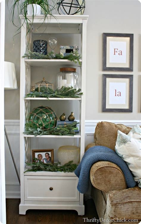 Etagere Decorating Ideas by Living Room Refresh From Thrifty Decor