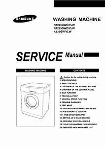 Samsung R833gw Yle R1033gwc Ylw R1233gwc Ylw Washing