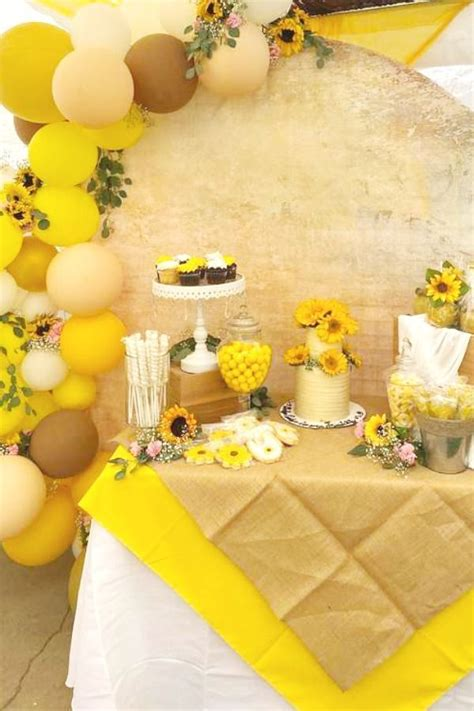Sunflower Baby Shower Party Ideas Photo 3 of 8 in 2020