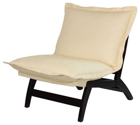 casual folding lounger chair espresso contemporary