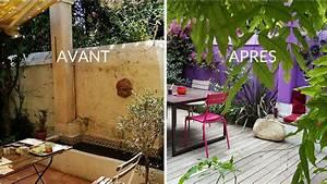 decoration jardinage With idees amenagement jardin exterieur 5 avant apras oser la couleur en exterieur