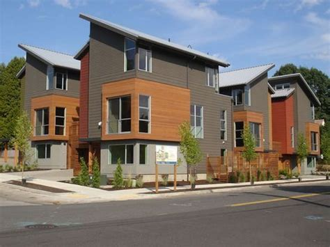 diversity of materials interesting roof lines eightx17 exterior contemporary townhomes in