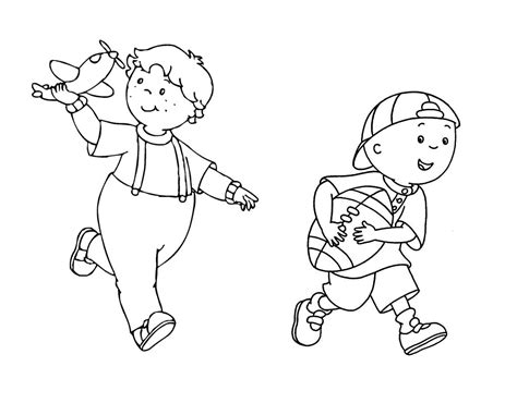 Caillou Printable Coloring Pages - Eskayalitim