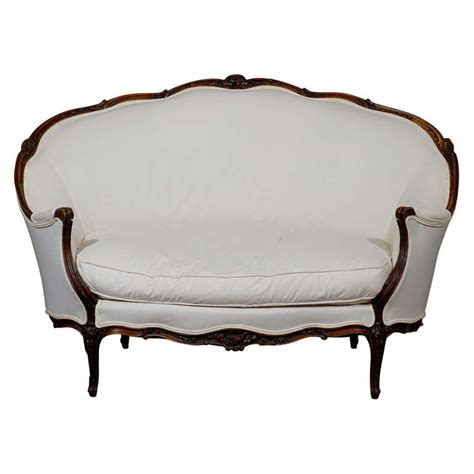 canapé style louis xv 19th century louis xv style canape in walnut at 1stdibs