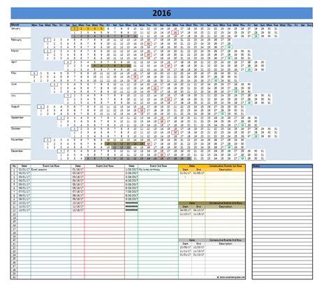2017 Calendar Template Excel Excel Calendar Template 2017 Cyberuse