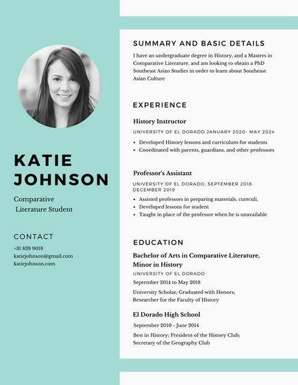 customize  simple resume templates  canva