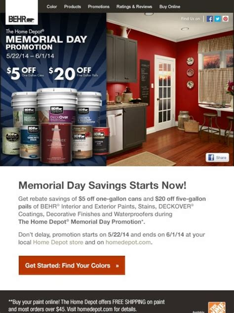 behr memorial day savings  behr paints stains