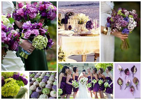Purple, Blue, And Green Wedding Ideas
