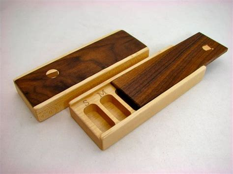 wooden weekly pill box solid hardwoods maple bottom