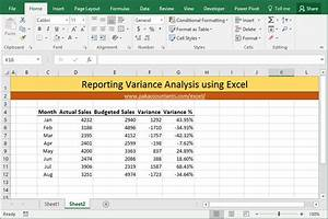 Comparing Excel Sheets 10 Ways To Make Excel Variance Reports And Charts How