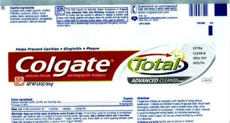 Colgate Total Contains Cancer-Linked Triclosan, Report ...
