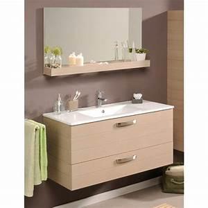 ensemble meuble vasque miroir 100cm quotcalviquot beige With ensemble meuble vasque miroir salle de bain