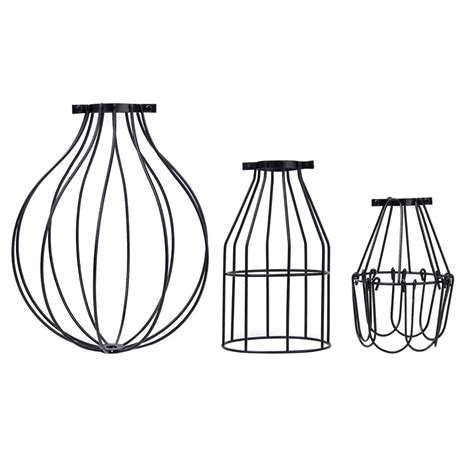 Vintage Industrial Metal Cage Wire Pendant Light