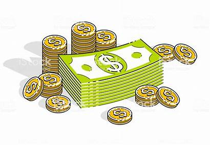Dollar Cents Vector Money Cash 3d Stacks
