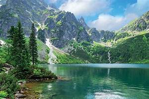 photography nature landscape mountains lake trees