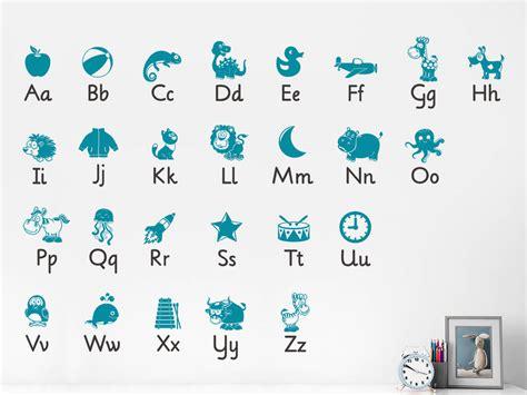 Wandtattoo Alphabet Kinderzimmer wandtattoo kinderzimmer alphabet abc lernen wandtattoos de