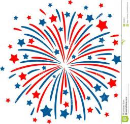 Red White Blue Fireworks Clip Art