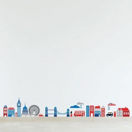 colour london cartoon skyline musings   wall