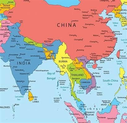 Asie Trajet Voyage Carte Chine Inde Birmanie
