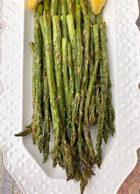 asparagus air fryer roasted roast long keto vegan easy recipe cook plate vegetables