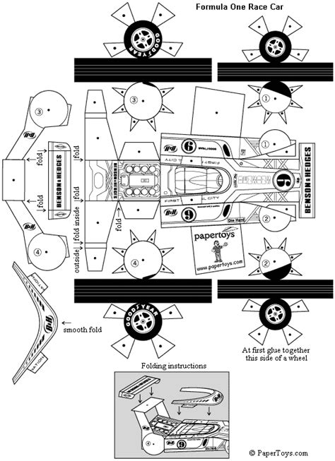Race Car Paper Cut Templates