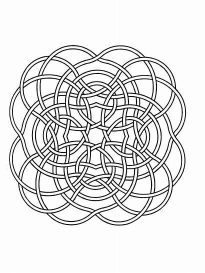 Mandala Mandalas Simple Coloring Lines Pages Children