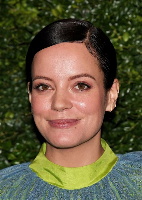 Lily Allen at the Charles Finch and Chanel Pre-BAFTA Party ...