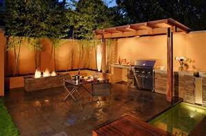Outdoor bbq kitchen islands spice up backyard designs and for Bbq design ideas