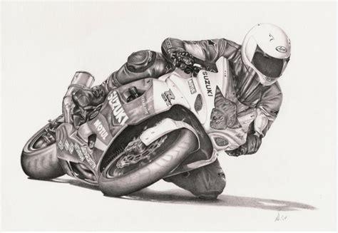 Motorcycle,bike,racing,drawing,home Wall Decor Prints
