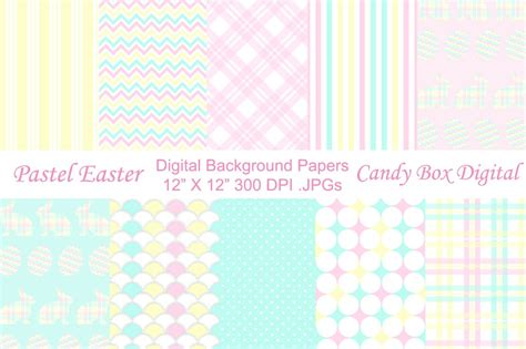 pastel easter background papers patterns creative market