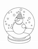 Coloring Pages Globe Snow Printable Snowglobe Winter Christmas Globes Template Colouring Simple Sheknows Blank Templates Sheet Sheets Penguin Activity Kindergarten sketch template