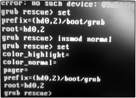 Grub Rescue Boot by Rescue Mission Linuxpinguin De