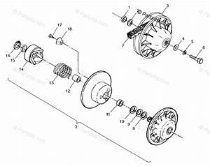 Polaris Atv 1998 Oem Parts Diagram For Driven Clutch