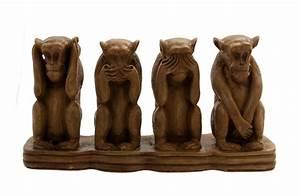 Statue Singe De La Sagesse : 4 singes de la sagesse en resine 1kg4 artisanat du monde h ~ Teatrodelosmanantiales.com Idées de Décoration