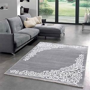 Tapis Salon Moderne : tapis salon new florida 1 gris 160x230 par unamourdetapis tapis moderne 160 x 230 cm gris ~ Teatrodelosmanantiales.com Idées de Décoration