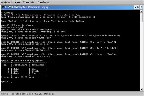 sql query to create table image gallery mysql createtable