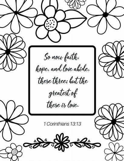 Coloring Verse Bibel Bible February