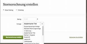 Stornierung Rechnung : wie kann ich eine stornorechnung erstellen fastbill support ~ Themetempest.com Abrechnung