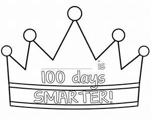 100 days of school crown by kids and coffee teachers pay With 100th day of school crown template