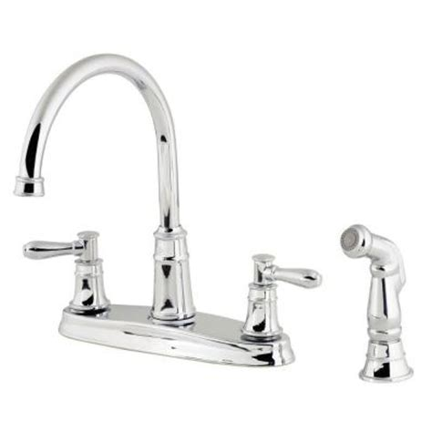 pfister harbor 2 handle high arc kitchen faucet in