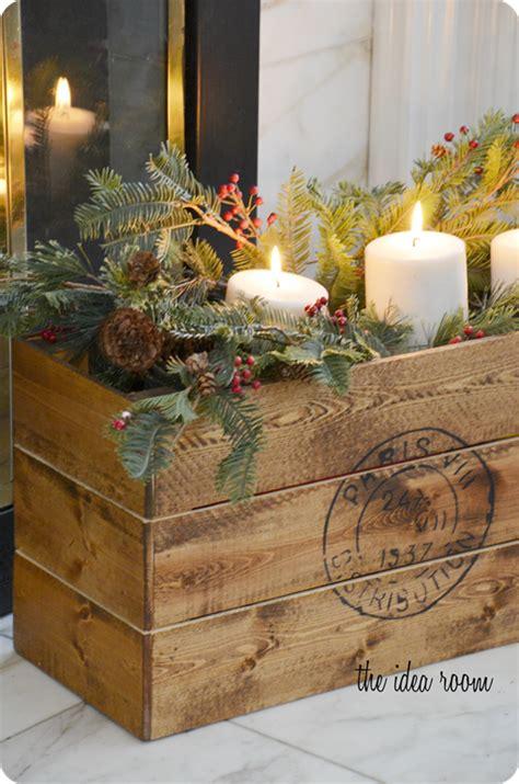 vintage christmas decor vintage diy crate